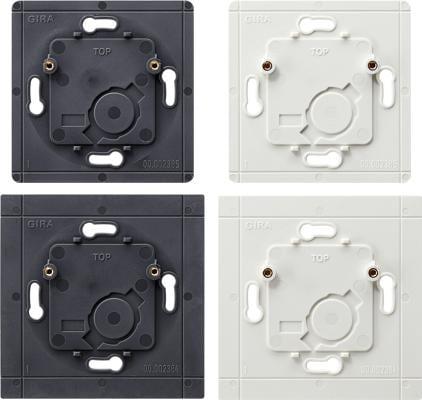 Bodenplatten Set für System 55 Funk-Wandsender, flache Bauweise System 55, Funk-Bussystem, Gira 111000