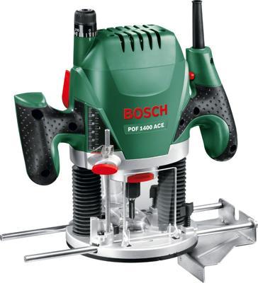 Bosch POF1400ACE Oberfräse (060326C800), inkl. Kunststoffkoffer und Parallelanschlag