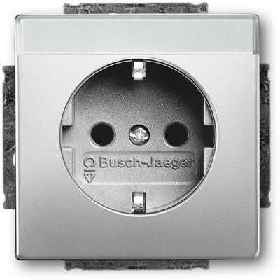 schuko steckdosen einsatz mit beschriftungsfeld. Black Bedroom Furniture Sets. Home Design Ideas
