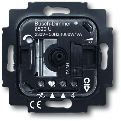 busch dimmer einsatz busch jaeger 6520 u von busch jaeger premium bei elektroshop wagner. Black Bedroom Furniture Sets. Home Design Ideas