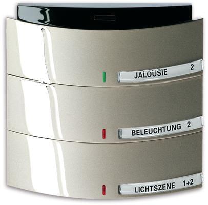 bedienelement 3 6 fach mit infrarotschnittstelle busch triton knx system champagner metallic. Black Bedroom Furniture Sets. Home Design Ideas