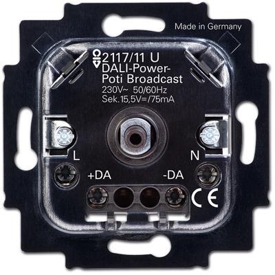 dali power potenziometer einsatz mit integriertem netzteil unterputzeins tze f r alle serien. Black Bedroom Furniture Sets. Home Design Ideas
