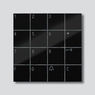 codeschloss modul schwarz hochglanz siedle vario com 611. Black Bedroom Furniture Sets. Home Design Ideas
