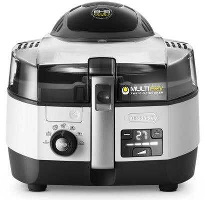 DeLonghi MultiFry Extra Chef FH 1394 Heißluftfritteuse, schwarz/silber