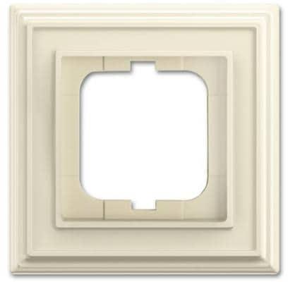 busch dynasty abdeckrahmen 1 fach rahmen elfenbeinwei busch jaeger 1721 832 von busch jaeger. Black Bedroom Furniture Sets. Home Design Ideas
