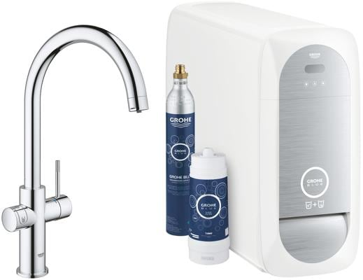 grohe blue home c auslauf starter kit chrom 31455000 von grohe bei elektroshop wagner. Black Bedroom Furniture Sets. Home Design Ideas