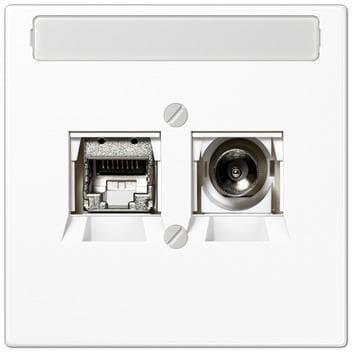 JUNG Abdeckung für Universal-Antennendosen LS 990 TV WW alpinweiß
