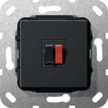 gira 569203 einsatz lautsprecher anschluss 1fach reinwei. Black Bedroom Furniture Sets. Home Design Ideas