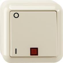 Merten SCHUKO Steckdosenkombination Steckdose mit Schalter AP MEG3499-8744 weiß