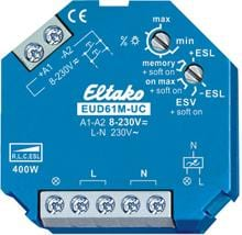 Eltako EUD61M-UC Multifunktions-Universal-Dimmschalter Power MOSFET bis 400W (61100903)