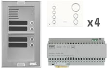 Grothe Audio Pre Pack 4 Wohneinheiten (A-2V-MIF-SS2-04WE)