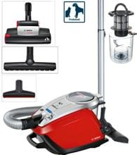 "Bosch BGS5PET1 StaubsaugerZoo""o ProAnimal, 800 W, AirTurbo, HEPA Hygienefilter, rot/silber"