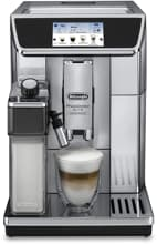DeLonghi PrimaDonna Elite Experience ECAM650.85MS Kaffeevollautomat, 1450W, 19bar, Touch Display, schwarz-silber