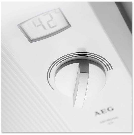 aeg ddle lcd eek a komfort durchlauferhitzer elektronisch geregelt 18 21 24kw ber. Black Bedroom Furniture Sets. Home Design Ideas