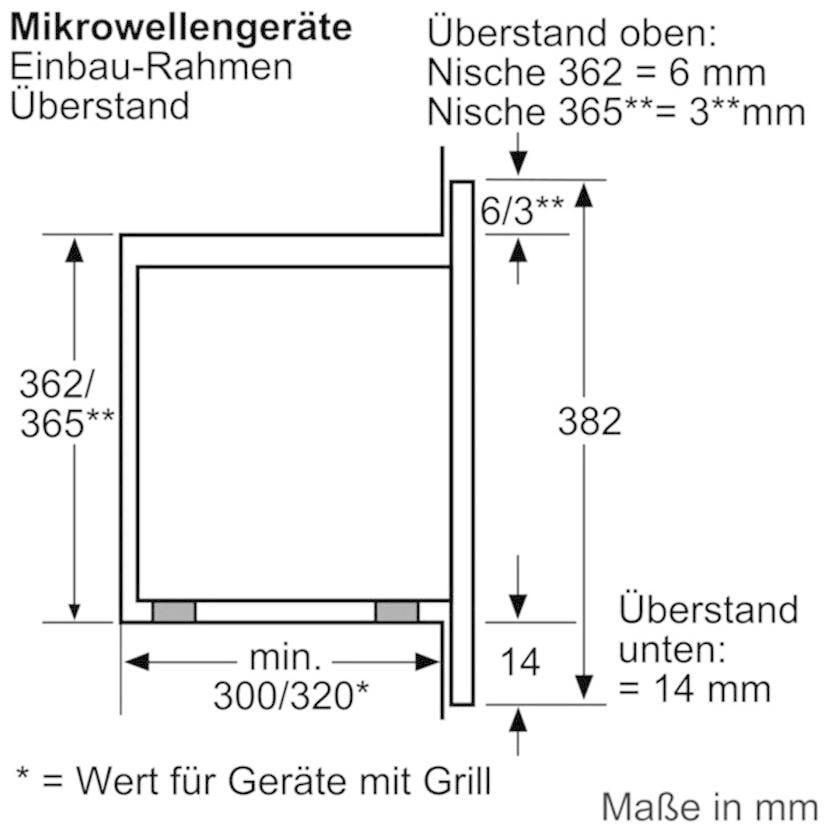 bosch hmt75m551 einbau mikrowelle 800 w edelstahl autopilot 7 49 4 cm breit von bosch. Black Bedroom Furniture Sets. Home Design Ideas