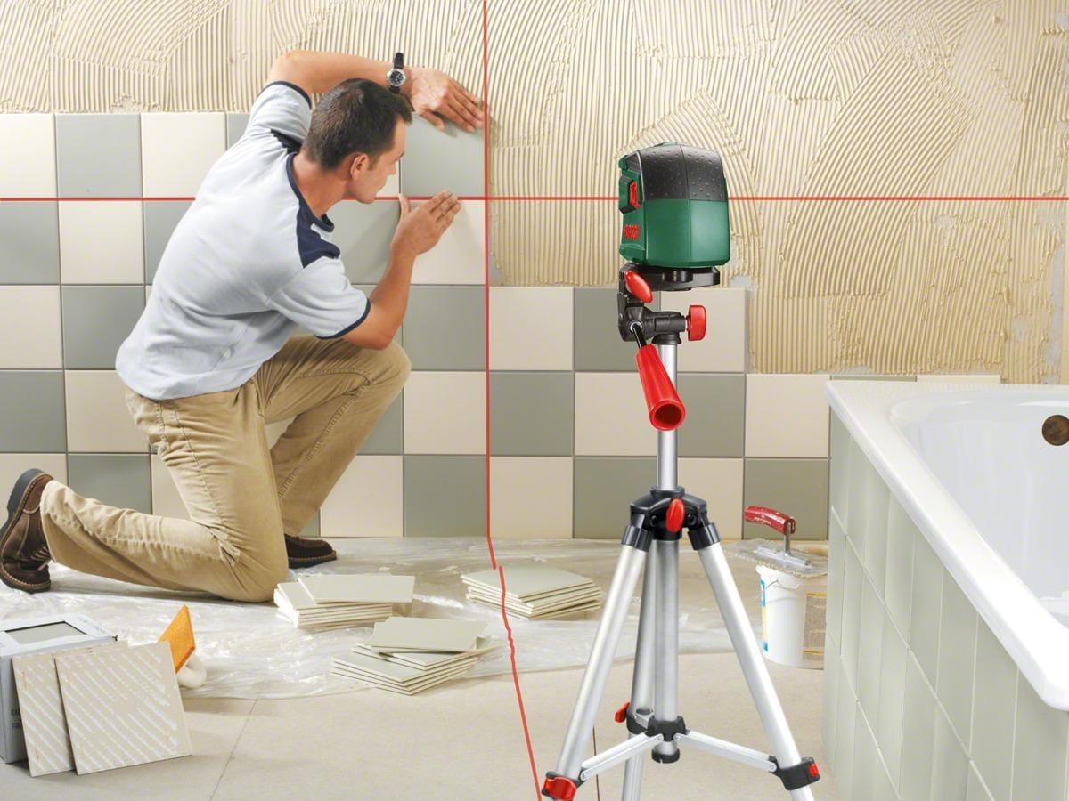 Bosch pcl set kreuzlinienlaser arbeitsbereich m