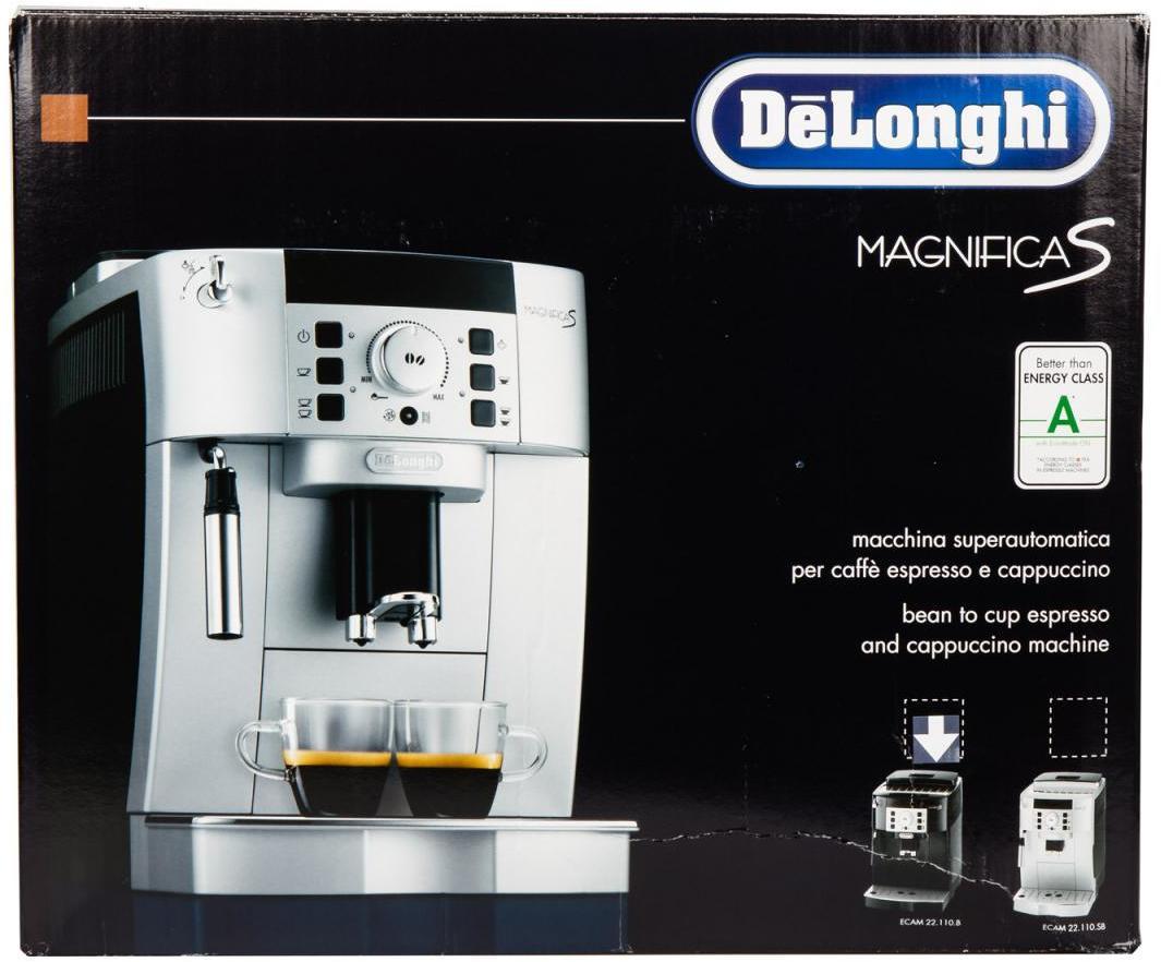 delonghi magnifica s ecam eek a kaffeevollautomat 1450 w 15 bar stand by funktion. Black Bedroom Furniture Sets. Home Design Ideas