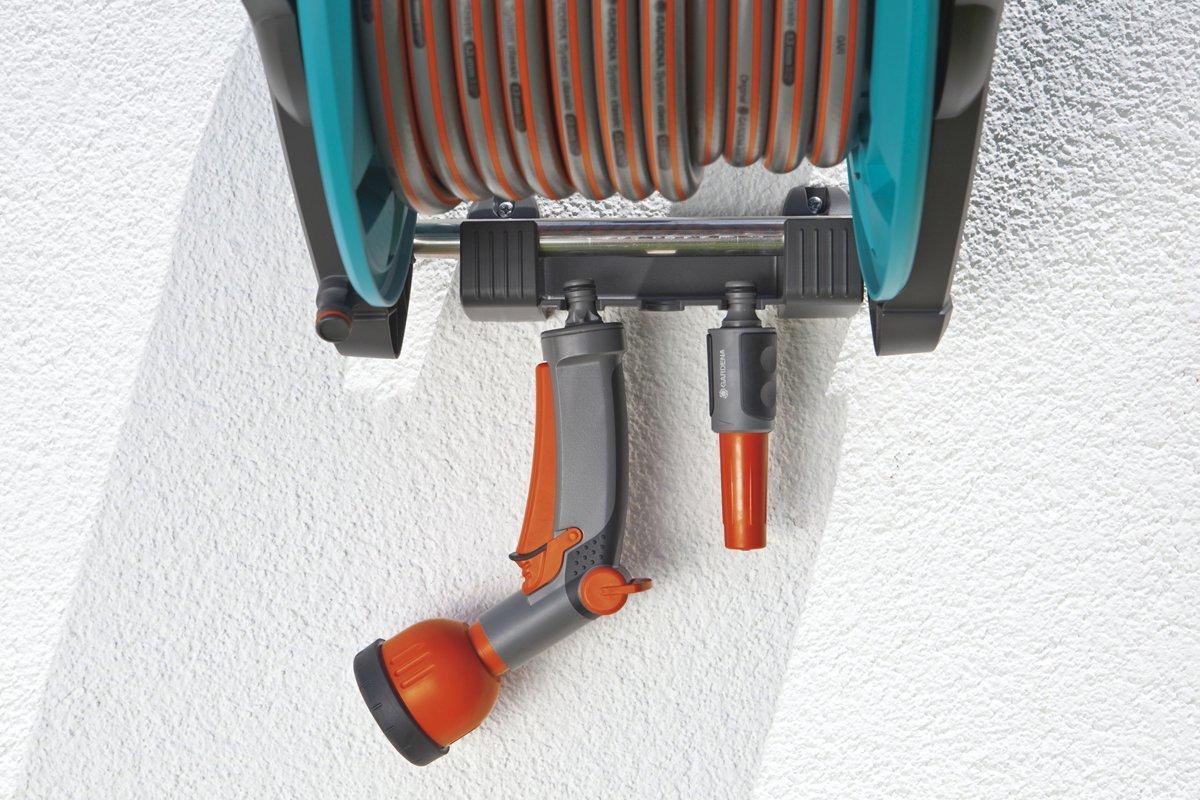 wand schlauchtrommel gardena classic 50 set 8009 20 von gardena gartenger te bei elektroshop. Black Bedroom Furniture Sets. Home Design Ideas