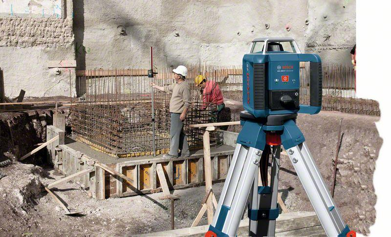 Bosch Professional GRL 400 H Transportkoffer Empf/änger 400 m Arbeitsbereich mit Empf/änger