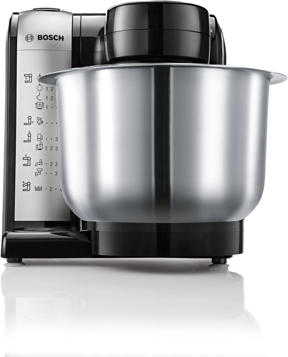 Bosch MUM48A1 Küchenmaschine, anthrazit/silber, 600 Watt ...
