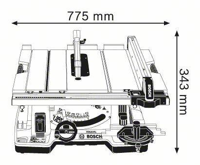 bosch gts10xc professional tischkreiss ge 0601b30400 2100 w 254 mm inkl winkelanschlag. Black Bedroom Furniture Sets. Home Design Ideas