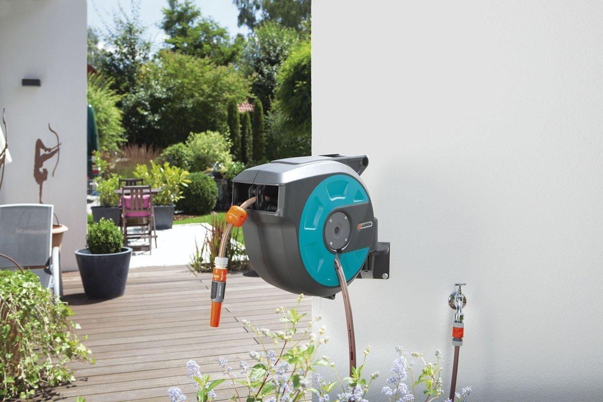 gardena 8022 20 wand schlauchbox roll up 15m von gardena gartenger te bei elektroshop wagner. Black Bedroom Furniture Sets. Home Design Ideas