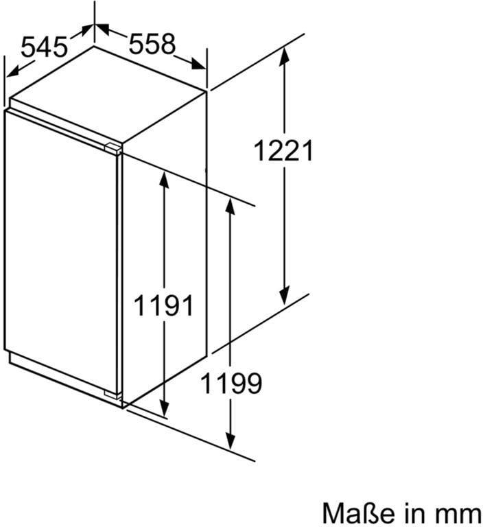 siemens ki42lad30 iq500 a einbau k hlschrank wei 55 8 cm breit freshsense coolefficiency. Black Bedroom Furniture Sets. Home Design Ideas