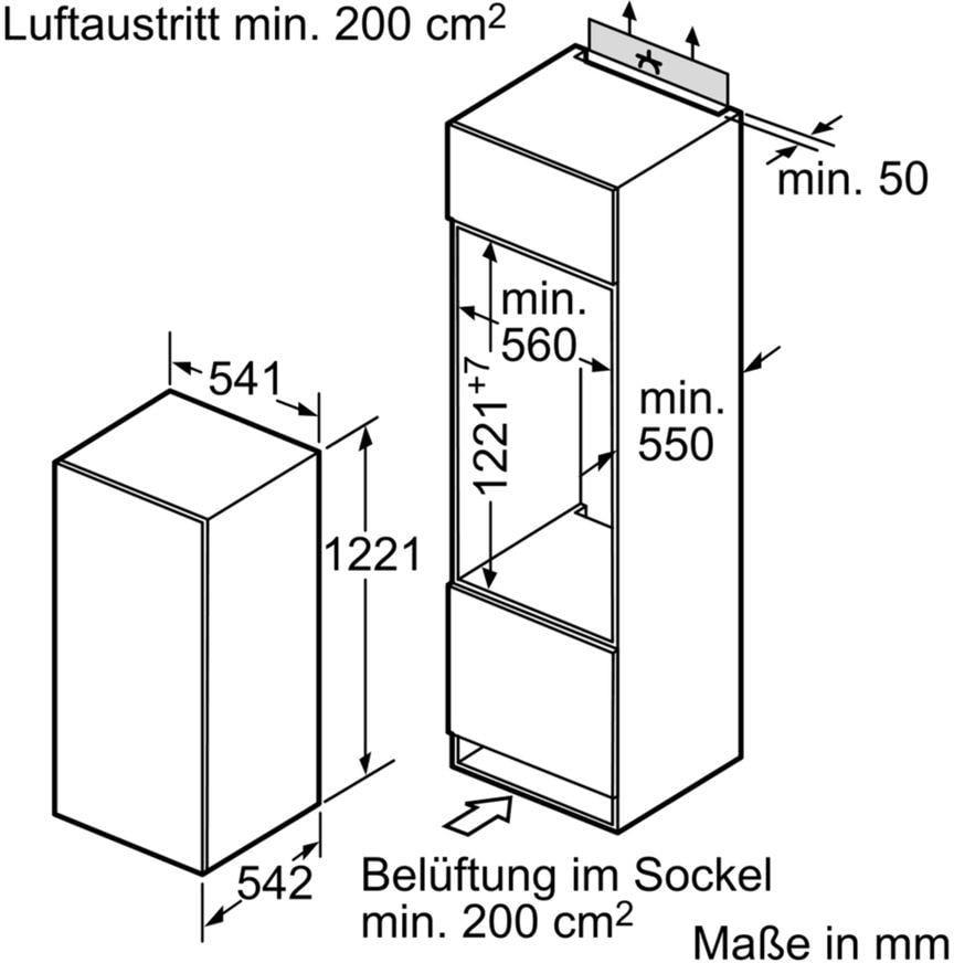 Bosch Kil24x30 A Einbau Kuhlschrank 200liter Touchcontrol Abtau