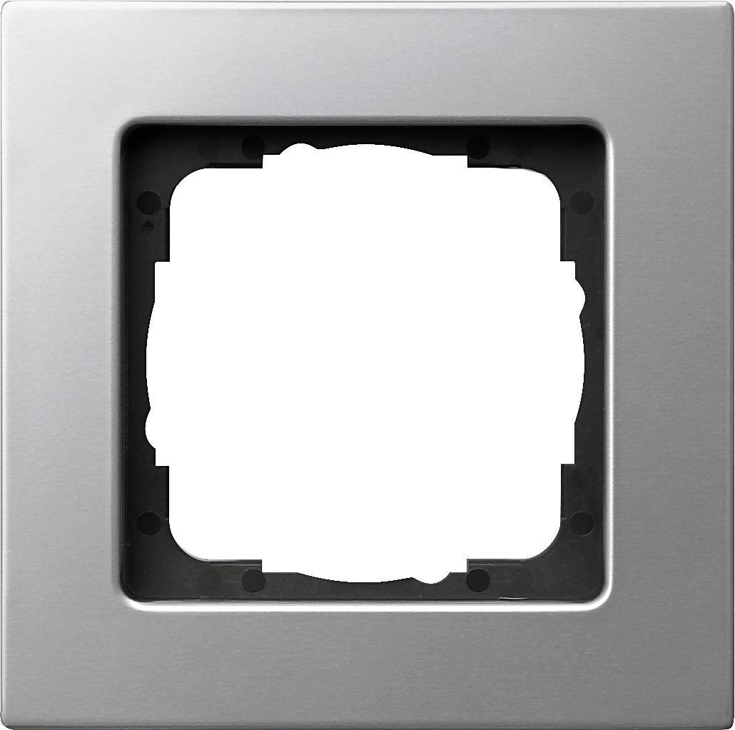 abdeckrahmen f r die flache montageart 1fach gira 0211206 von gira bei elektroshop wagner. Black Bedroom Furniture Sets. Home Design Ideas