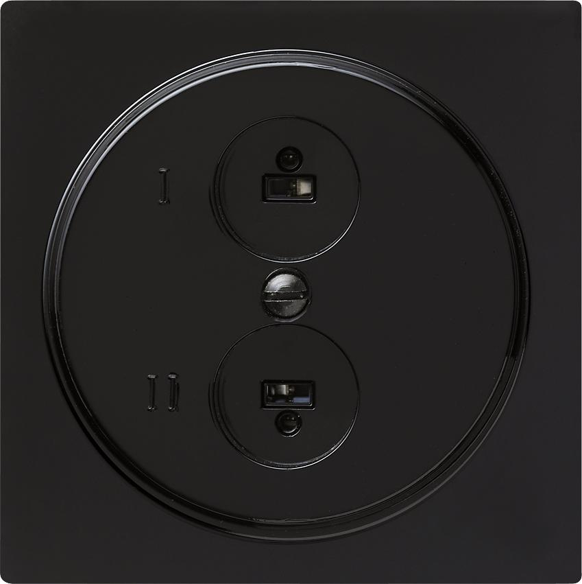 Stereo-Lautsprecher-Steckdose, S-Color, Schwarz, Gira 040247 von ...