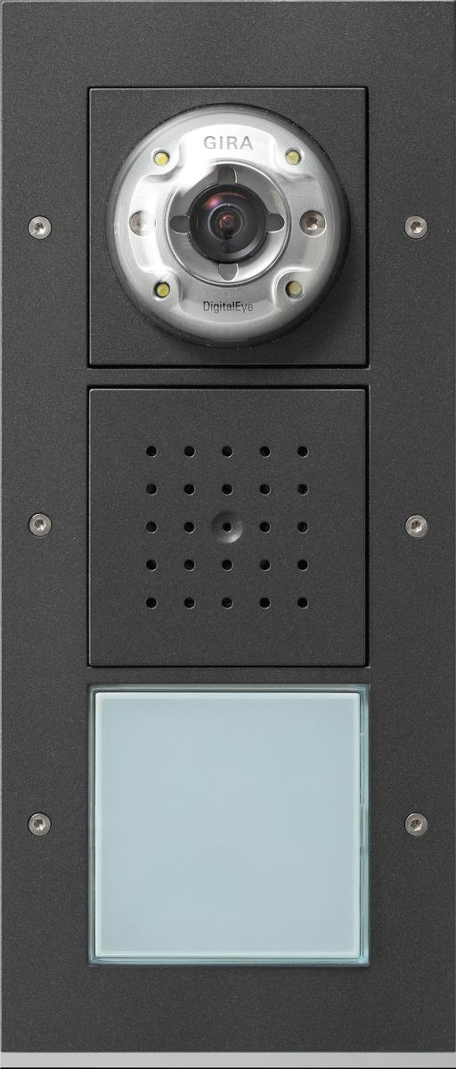 Gira 126767 Türstation aufputz 3fach Türkommunikation Anthrazit