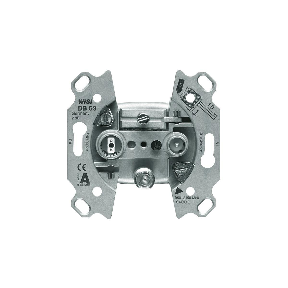 RJ 45 6A iso geschirmt /& 2511-214 Rahmen 1-Fach Cat Busch-Jaeger 0218//11-101 UAE-Anschlussdose