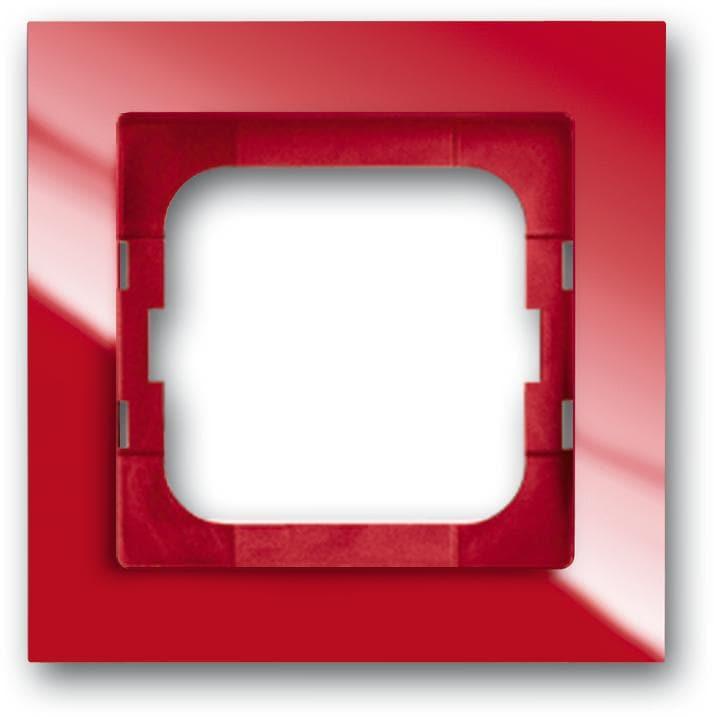 abdeckrahmen 1 fach rahmen busch axcent rot busch jaeger 1721 287 von busch jaeger bei. Black Bedroom Furniture Sets. Home Design Ideas