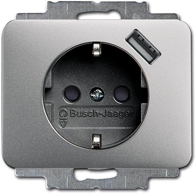 Berühmt SCHUKO® USB-Steckdose Mit integriertem erhöhtem Berührungsschutz LU62