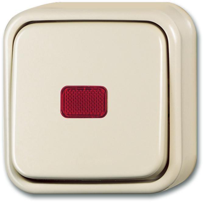 wipp kontrollschalter aus und wechselschaltung cremewei busch duro 2000 ap busch jaeger. Black Bedroom Furniture Sets. Home Design Ideas