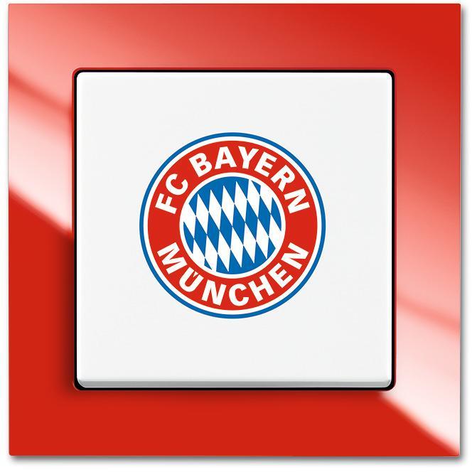 Eintracht Frankfurt Fan Lichtschalter BUSCH-JAEGER 2000//6 UJ//09