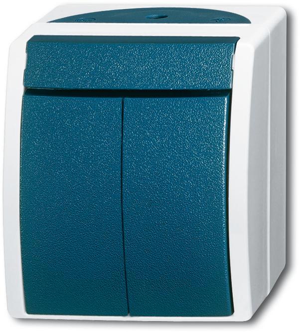 wippschalter serien grau blaugr n ocean ip44 busch jaeger 2601 5 w 53 von busch jaeger bei. Black Bedroom Furniture Sets. Home Design Ideas