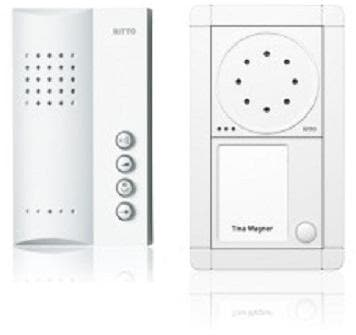 ritto portier audio set freisprechstelle 1 wohneinheit wei rge1891370 von ritto bei. Black Bedroom Furniture Sets. Home Design Ideas