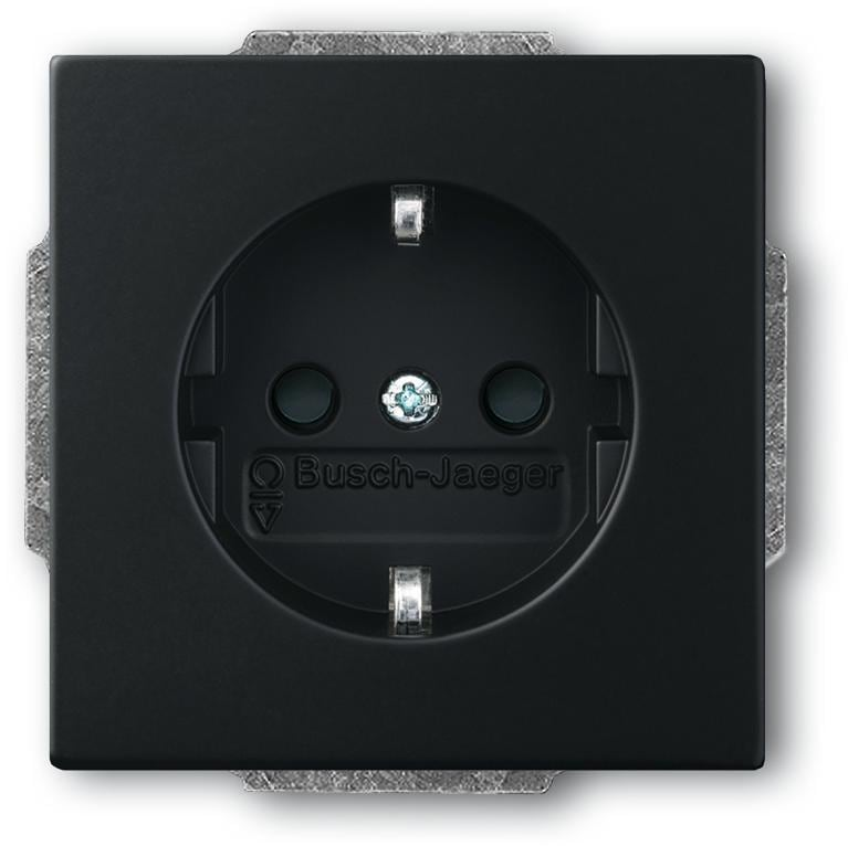 schuko steckdosen einsatz mit integriertem erh htem. Black Bedroom Furniture Sets. Home Design Ideas