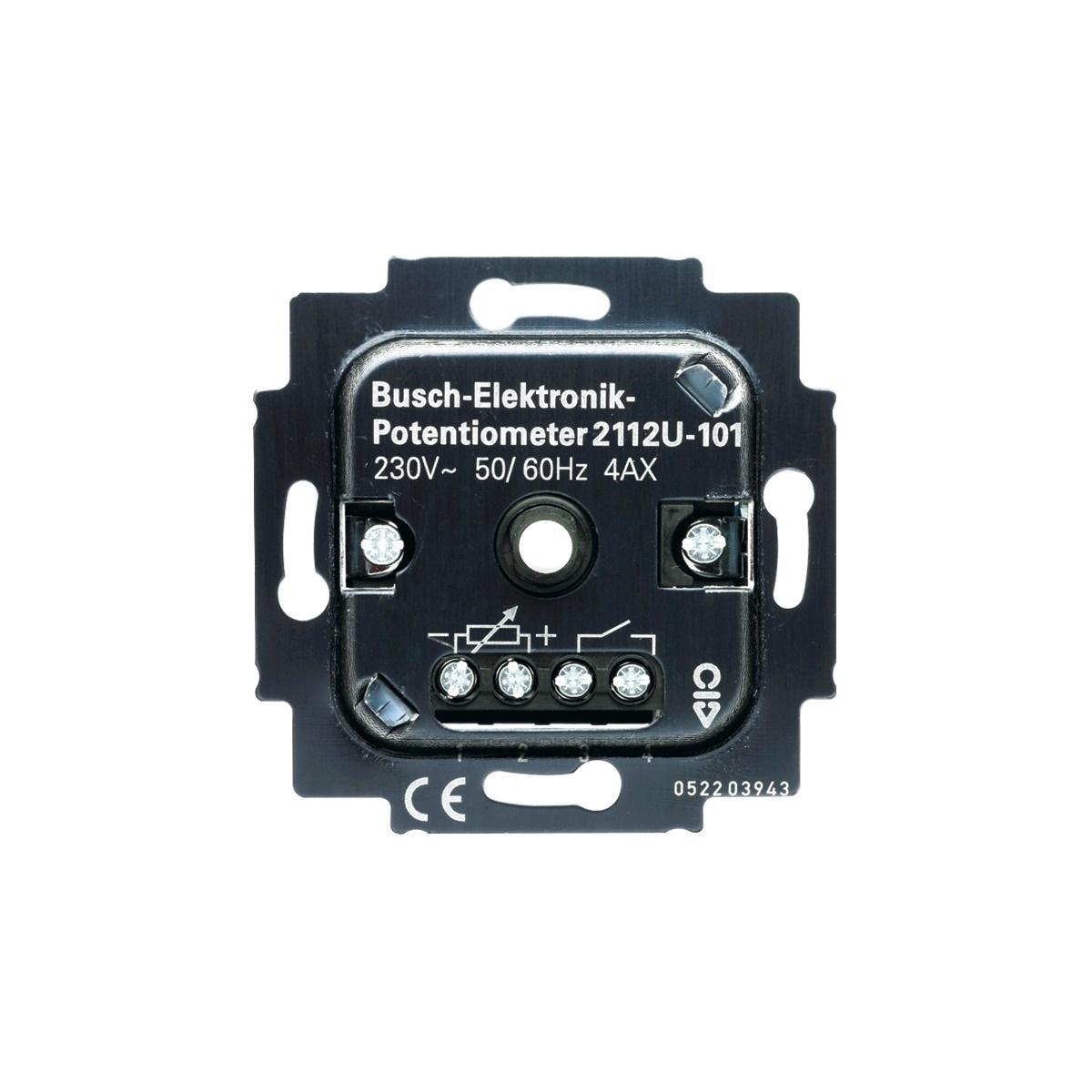 busch elektronik potenziometer einsatz busch jaeger 2112 u 101 von busch jaeger premium bei. Black Bedroom Furniture Sets. Home Design Ideas