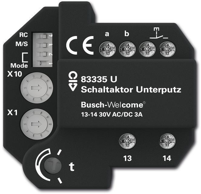 busch jaeger schaltaktor unterputz zur montage in einer unterputzdose 83335 u von busch. Black Bedroom Furniture Sets. Home Design Ideas