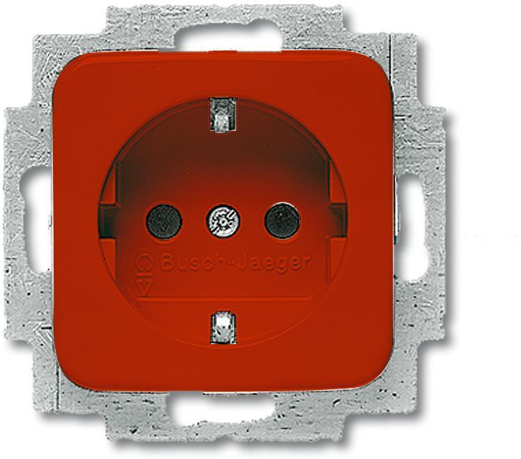 schuko steckdosen einsatz duro 2000 si rot busch jaeger 20 euc 217 von busch jaeger bei. Black Bedroom Furniture Sets. Home Design Ideas