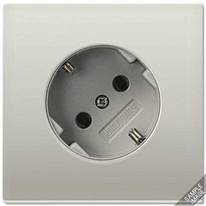 schuko steckdose 45 16 a 250 v aluminium ls 990 jung. Black Bedroom Furniture Sets. Home Design Ideas
