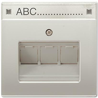 abdeckung mit schriftfeld 12 x 55 mm edelstahl ls 990. Black Bedroom Furniture Sets. Home Design Ideas