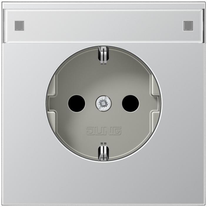 schuko steckdose 16 a 250 v aluminium ls 990 ls design. Black Bedroom Furniture Sets. Home Design Ideas