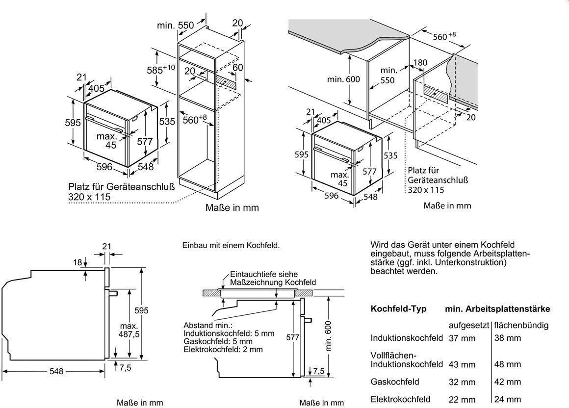 Neff BCR4522N A+ EinbauBackofen, SensorTasten, edelstah ~ Backofen Einbau