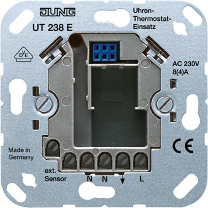 uhren thermostat einsatz jung ut238e von jung bei elektroshop wagner. Black Bedroom Furniture Sets. Home Design Ideas