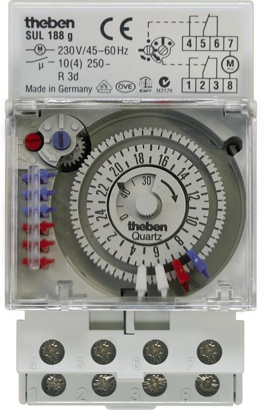 theben analoge zeitschaltuhr sul 188 g von theben bei elektroshop wagner. Black Bedroom Furniture Sets. Home Design Ideas