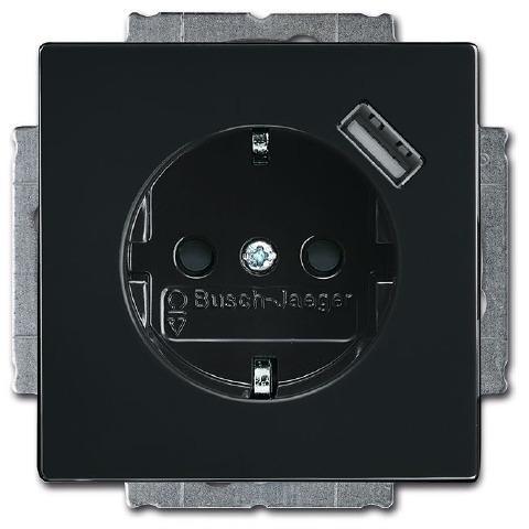 busch jaeger 20 eucbusb 81 schuko usb steckdose carat. Black Bedroom Furniture Sets. Home Design Ideas