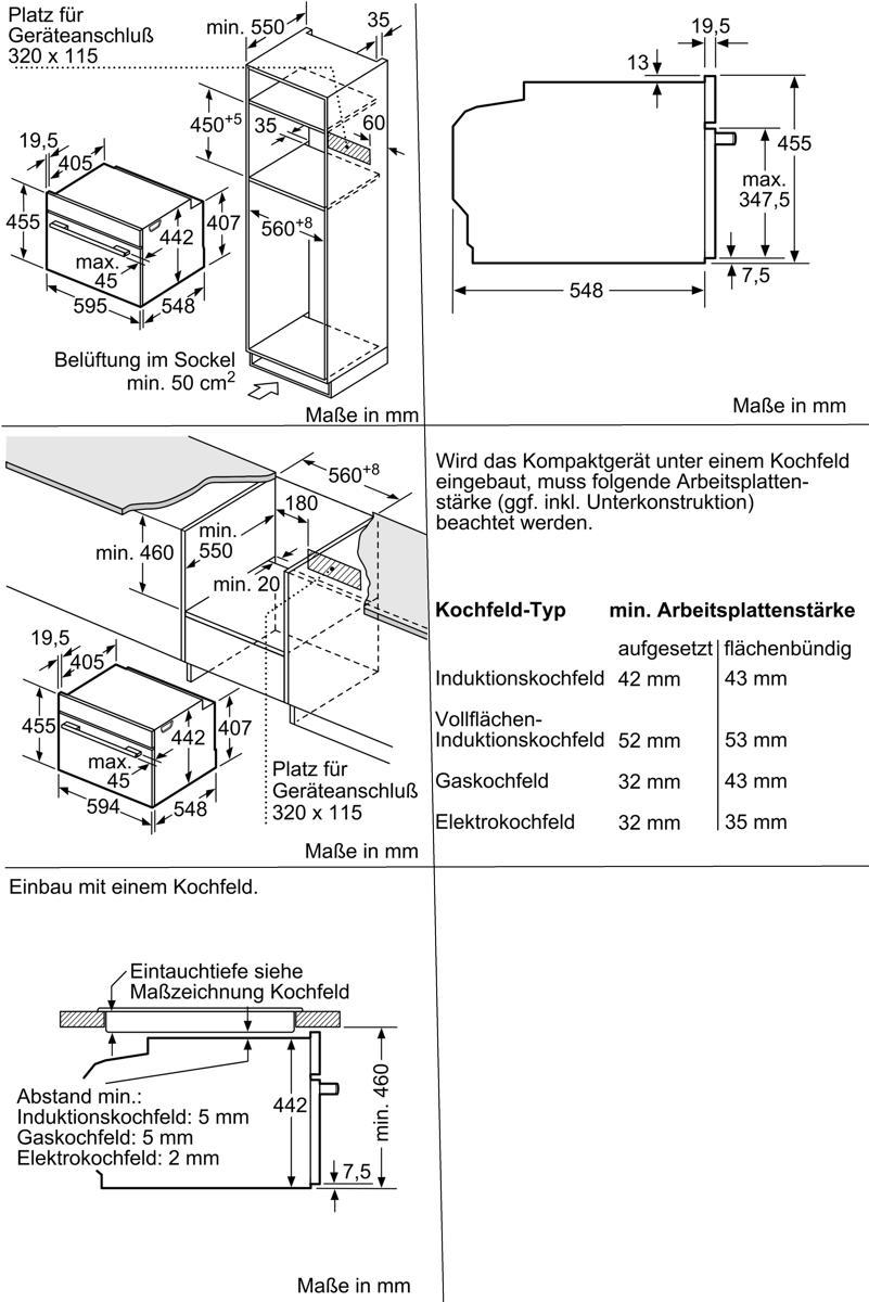 Bosch Cmg636bs1 Einbau Backofen Mit Mikrowelle Schaltknebel Tft